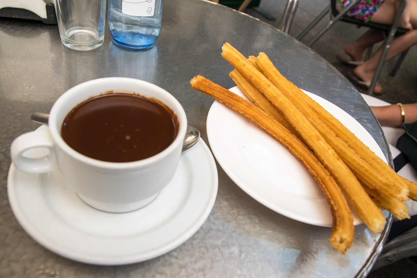 De lekkerste churros eet je in Madrid.