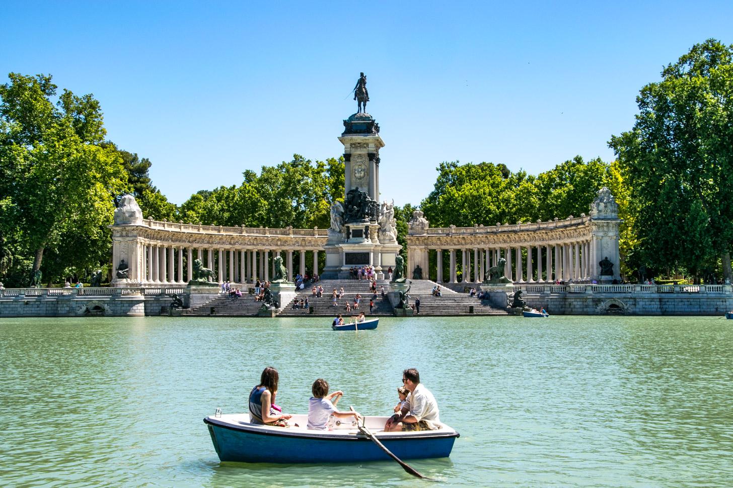 Het Retiropark in Madrid
